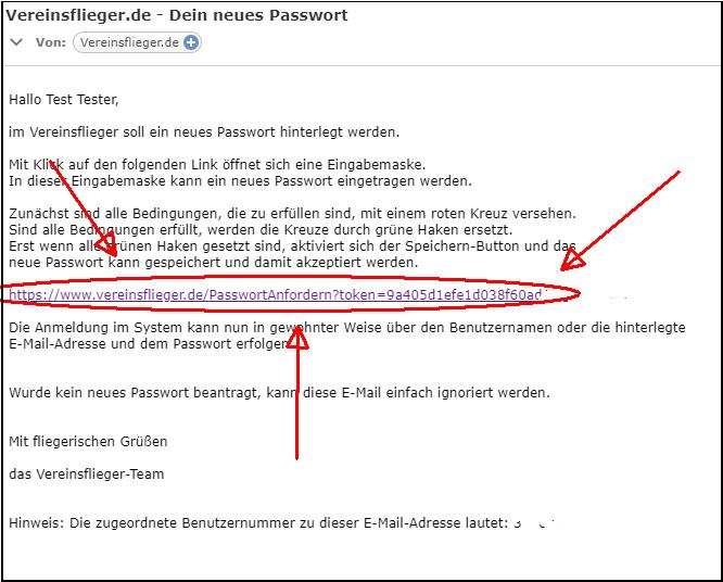 Passwort Mail