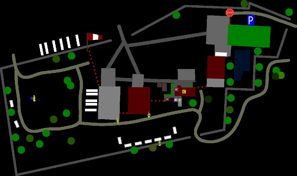 Gelände Flugplatz EDBU - Übersichtskarte